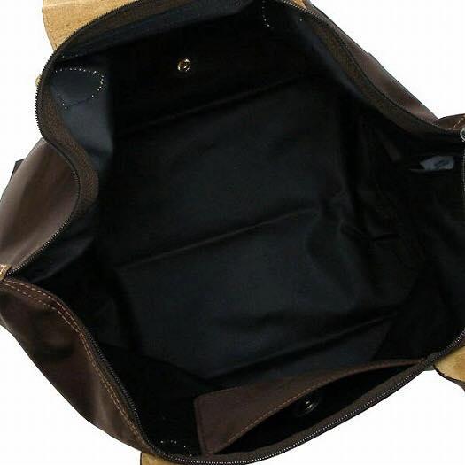 【LONGCHAMP】 LE PLIAGE 基本摺疊款/短把水餃包(咖啡/中) 1
