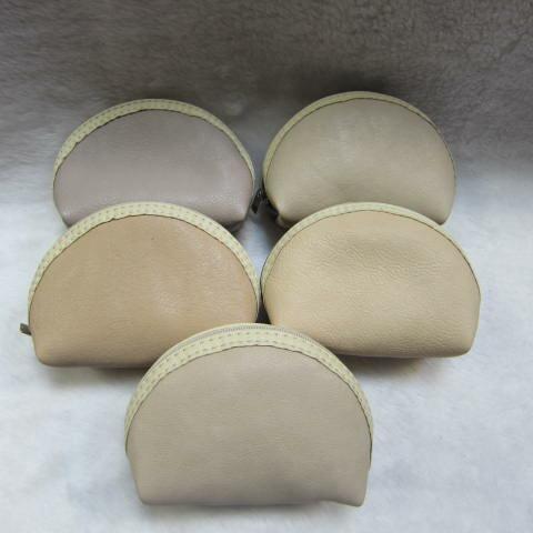 ~雪黛屋~ sandia-polo 零錢包一組三個大中小多功能使用防水尼龍布材質+進口皮革70-SA556-01 裸粉