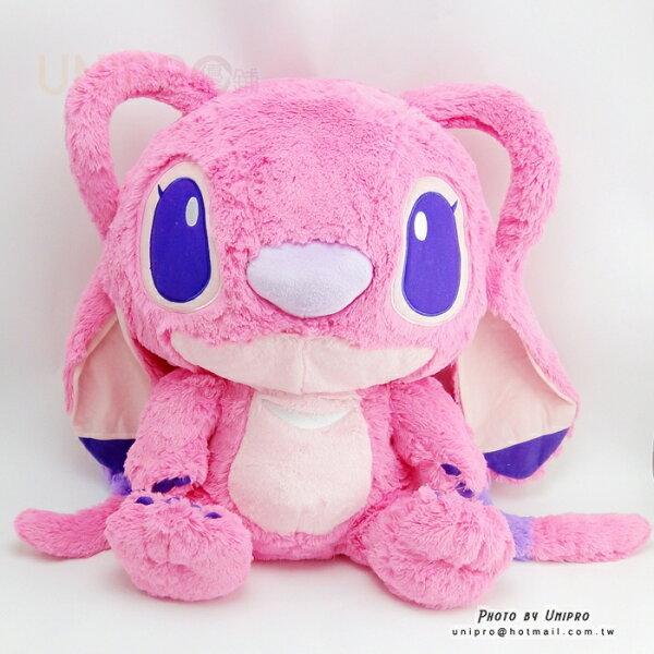 【UNIPRO】迪士尼 星際寶貝 安琪 Angel 天使 史迪奇女朋友 絨毛玩偶 娃娃 禮物 45公分 粉紅史迪奇