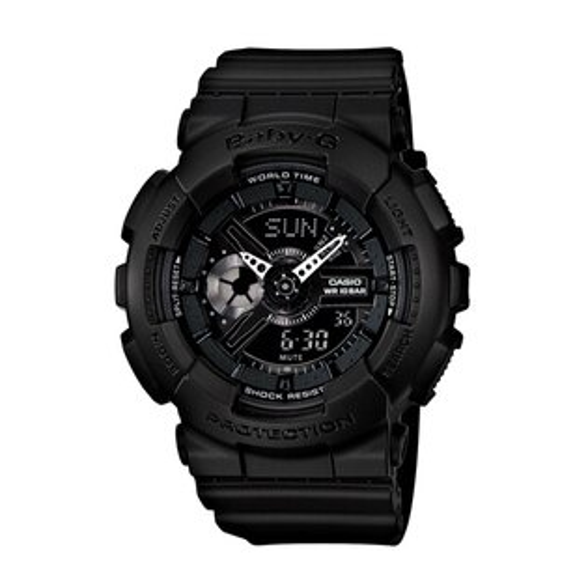 CASIO BABY-G BA-110BC-1A酷黑少女雙顯流行腕錶/黑面43.4mm
