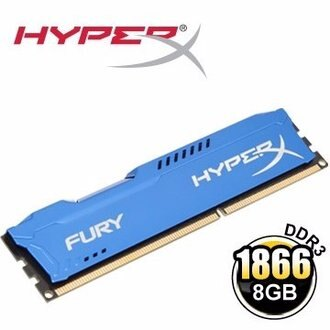 *╯新風尚潮流╭*金士頓 8GB HyperX FURY 星耀藍 DDR3-1866 桌上型超頻記憶體 HX318C10F/8