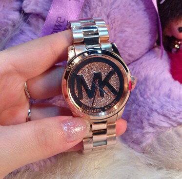 美國Outlet正品代購 MichaelKors MK 陶瓷 水鑽 三環 手錶 腕錶 MK5853 3