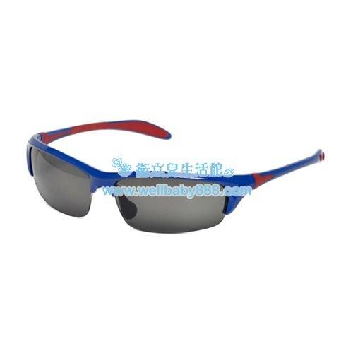 ★衛立兒生活館★美國RKS雙色葉片型太陽眼鏡-藍紅(10歲以上)