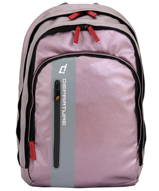 「雙肩後背包」行李箱拉桿 筆電包 防潑水材質×紫色 :: departure 旅行趣/ BP052 0