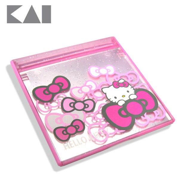 【貝印KAI】Hello Kitty 折疊式立鏡/化妝鏡(KK1713)