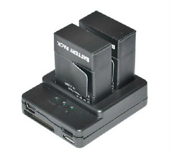 GOPRO HERO3 3+專用 雙槽 電池充電器 一次充兩顆 可接USB 行動電源 【BGPA89】