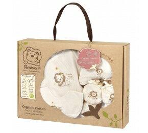 『121婦嬰用品館』辛巴 有機棉喜悅禮盒(七分袖兔裝) 0-6M 0