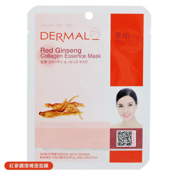 韓國 DERMAL 紅蔘調理補溼面膜
