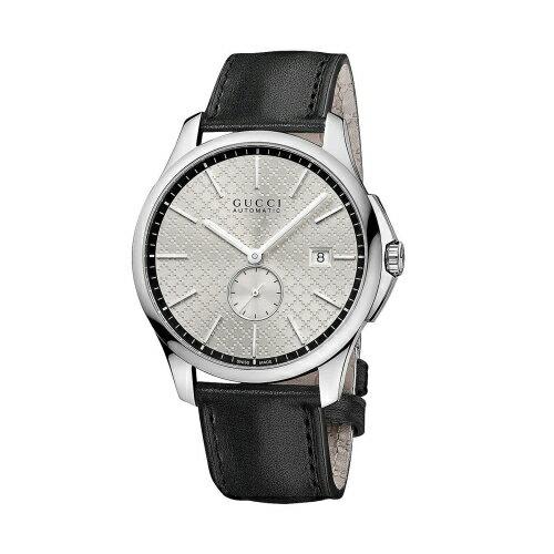 GUCCI G-TIMELESS摩登都會時尚設計機械腕錶/咖啡色/YA126313