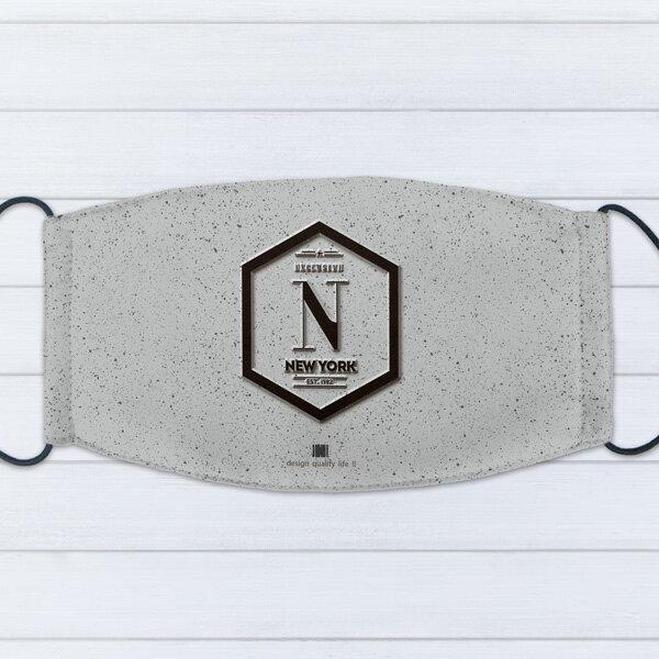 [ IHERMI ] 個性口罩 / 個性字母N / 愛好蜜 MIT台灣製造好安心 環保染劑使用 極細緻印染技術 0