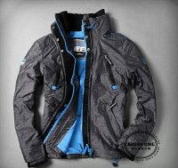 Superdry極度乾燥商品推薦[男款] 英國名品 代購 極度乾燥 Superdry Polar Wind Attacke 男士防水防風戶外休閒外套夾克 深灰/藍