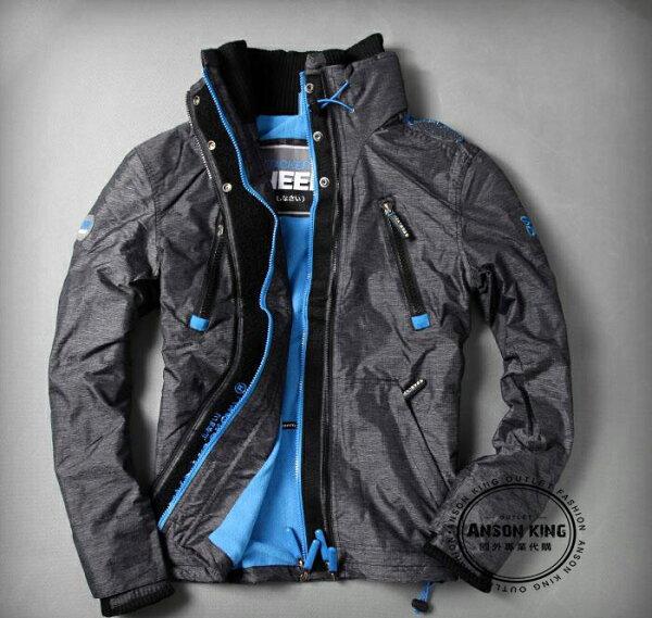[男款] 英國名品 代購 極度乾燥 Superdry Polar Wind Attacke 男士防水防風戶外休閒外套夾克 深灰/藍