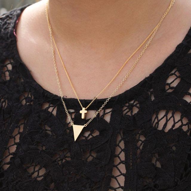 【海外訂購】【Kris Nations】金色幾何三角形手工項鍊(N-Tri-G  0868170000) 1