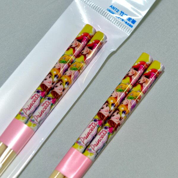 迪士尼公主系列 竹筷子 日本製 正版品