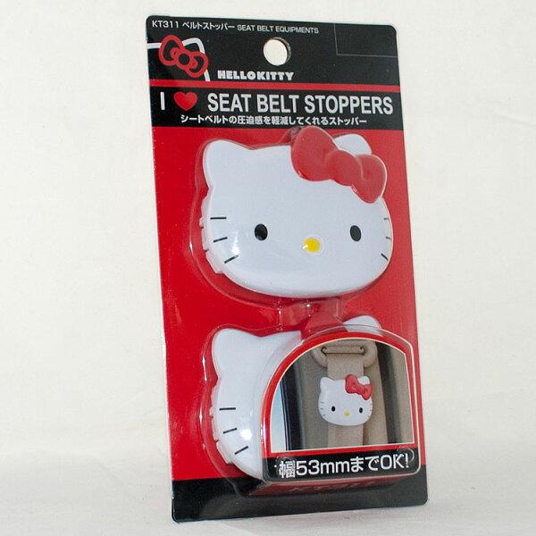 Hello Kitty 汽車安全帶扣頭 減輕壓迫感 日本帶回日本限定
