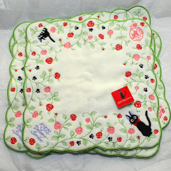 魔女宅急便KIKI 純棉 立體方巾 毛巾 手帕 日本帶回正版品