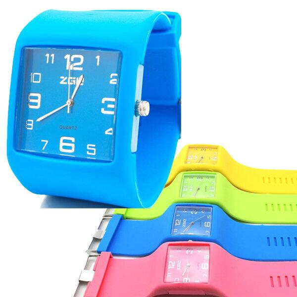 馬卡龍護腕錶 韓國果凍手錶 石英錶 運動手錶