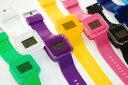 韓國 果凍手錶 純色冷光 時尚電子錶 學生運動手錶