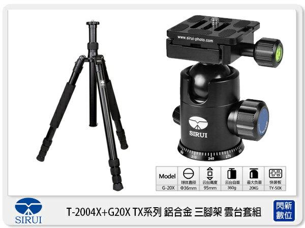 【分期0利率,免運費】Sirui 思銳 T-2004X+G20X 鋁合金 三腳架 可反折 (T2004X,含雲台,公司貨)