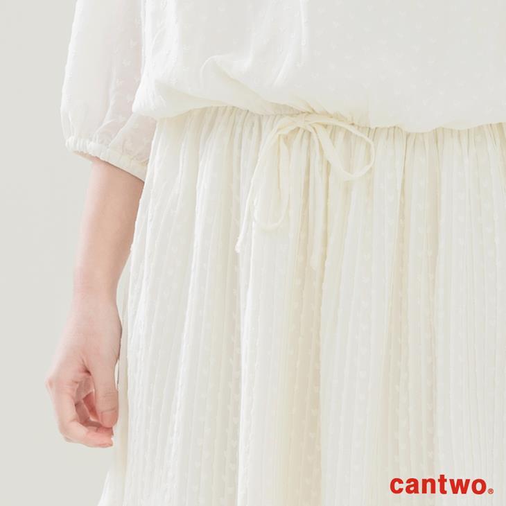 cantwo點點雪紡長袖洋裝(共二色) 5