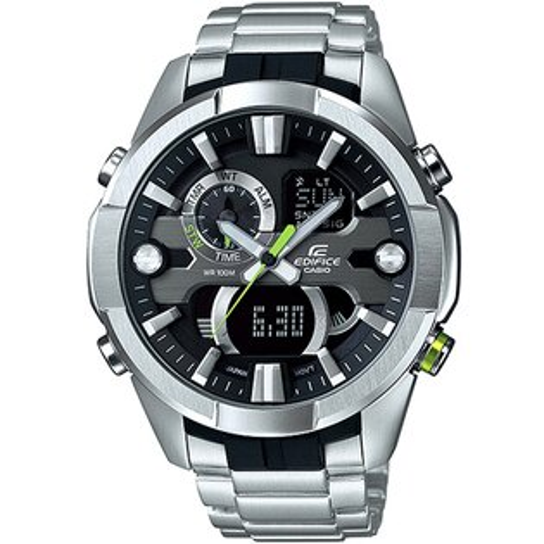CASIO EDIFICE ERA-201D-1A賽車魂溫度感應時尚腕錶/黑面47mm