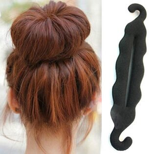 PS Mall 韓版新款時尚頭飾髮飾 彎鉤海綿盤髮器丸子頭 盤髮工具【H076】