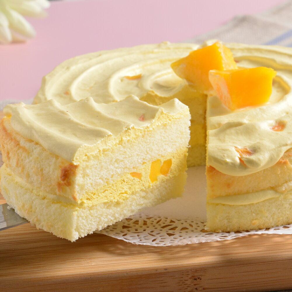 限定只到8 31 50組~艾波索~黃金芒果唱片蛋糕6吋~綿密的香草蛋糕, 主廚特製的 芒果