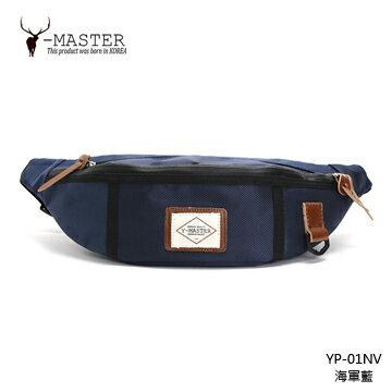 【愛瘋潮】正韓 韓國直送 Y-MASTER 城市探險- 時尚質感韓版腰包 / 胸包 YP-01NV (海軍藍)