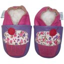 Dotty Fish Soft Leather Baby Shoes - Pink and Lilac Cupcake