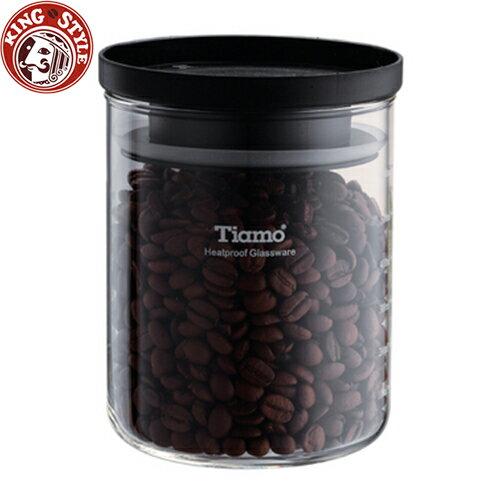 金時代書香咖啡 Tiamo 玻璃儲豆罐 95*130mm 600ml