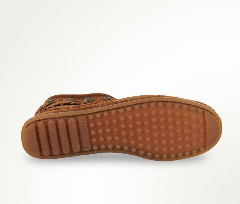 【Minnetonka 莫卡辛】棕色 - 雙層麂皮流蘇踝靴 4