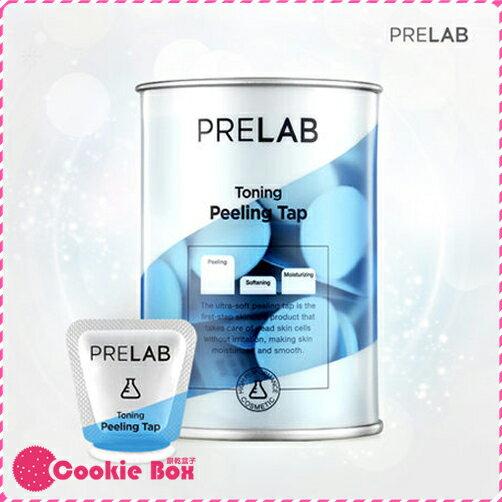 韓國 PRELAB 免沖洗 角質 軟化 粉撲型 凝液 1ml/15入 臉部 妝前 保養 好上妝 *餅乾盒子*