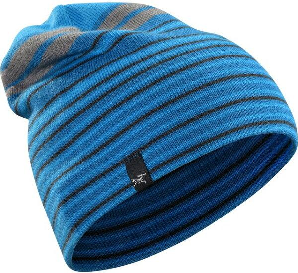 Arcteryx 始祖鳥 保暖帽/毛帽/滑雪/登山/旅遊/背包客 Rolling Stripe 15222 羊毛保暖帽 金剛鸚鵡藍 Arc'teryx