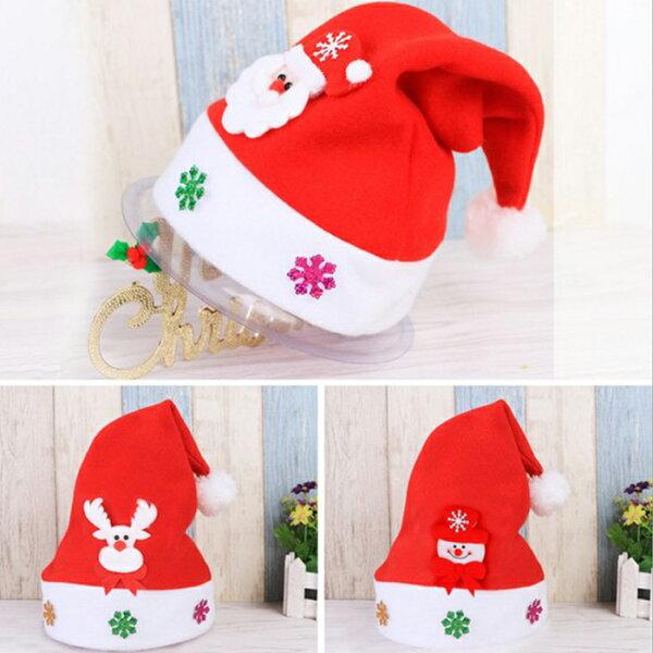 tangyizi輕鬆購【DS071】聖誕節聖誕老公公兒童卡通帽子飾品派對聖誕帽