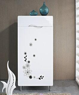 【尚品家具】JF-282-2 艾菲1.5尺白色單門單抽鞋櫃
