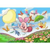 小熊維尼周邊商品推薦Winnie The Pooh乘風飛翔拼圖300片