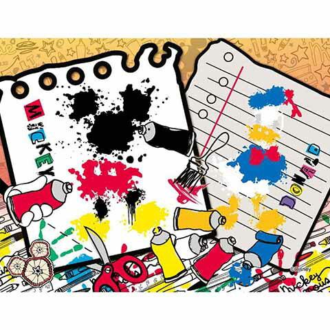 Mickey Mouse&Friends創意塗鴉拼圖500片