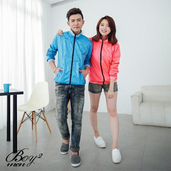 ☆BOY-2☆【OE50005】情侶休閒多彩螢光風衣外套 2