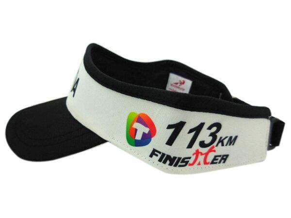 HEADSWEATS 汗淂 運動帽-台東普悠瑪鐵人三項113K完賽 FINISHER紀念中空帽(白/黑)