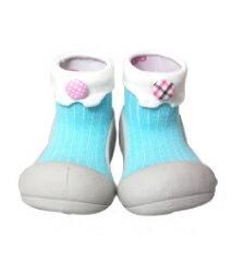 【本月特價$599】韓國【Attipas】快樂腳襪型學步鞋-糖果藍 - 限時優惠好康折扣