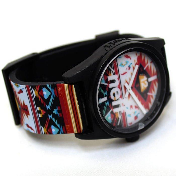 BEETLE NEFF DAILY WILD WATCH 民族風 彩紅 圖騰 藍紅 黑白 指針錶 手錶 圓錶 防潑水 1