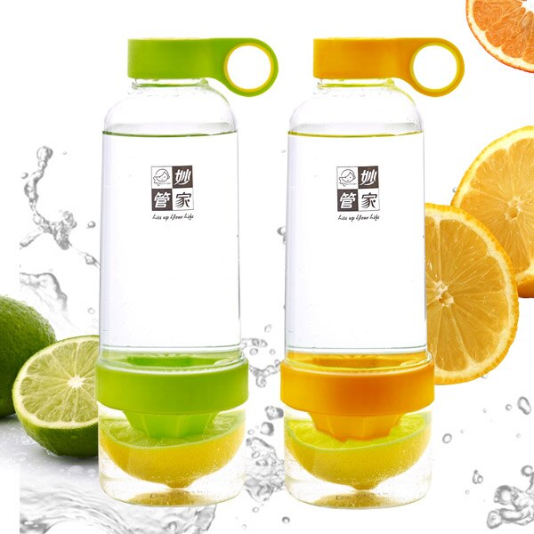 妙管家 TRITAN速鮮瓶/榨汁檸檬杯(綠/橘)  900ml HKTR-900Y/G 0