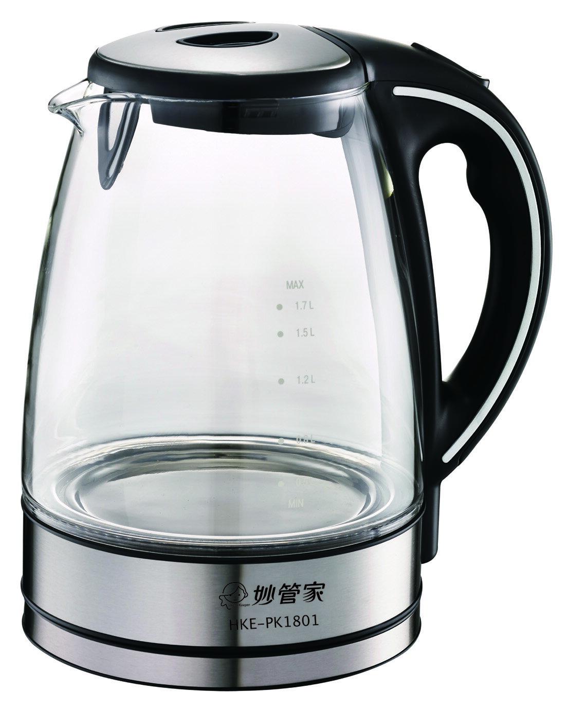妙管家 LED玻璃炫彩快煮壺 / 1.8L / HKE-PK1801 0