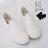 格子舖*【KH6870】校園風格經典 簡約時尚素面 貝殼頭平底帆布鞋 懶人鞋 小白鞋 2色 1