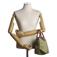 [短柄S號]國外Outlet代購正品 法國巴黎 Longchamp [1621-S號] 短柄 購物袋防水尼龍手提肩背水餃包 抹茶綠 3