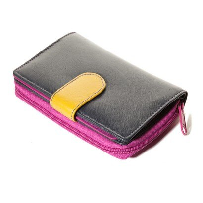 Golunski Sophie Ladies Leather Wallet/Purse (navy purple) 0