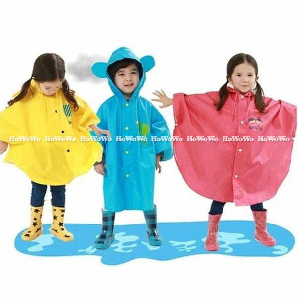 雨衣 可愛小耳朵兒童卡通造型雨衣(80-130cm) SS24101