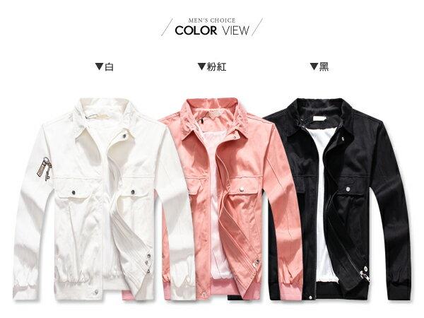 ☆BOY-2☆【NQ98043】情侶外套 美式潮流布章夾克外套 2