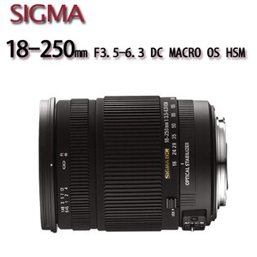 SIGMA 18-250mm F3.5-6.3 DC MACRO OS HSM 防手震旅遊鏡 【平行輸入】