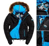 Superdry極度乾燥商品推薦女款 極度乾燥 Superdry 皮草連帽運動發泡夾克 海軍藍 寒流必備 防風 保暖 舒適